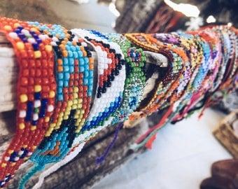 Boho Beaded Bracelet, Bohemian Bracelet, Thailand Bracelet, Friendship Bracelet, VintageChameleon