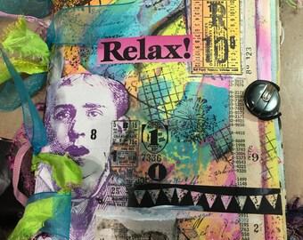 Handmade blank paper journal - Relax