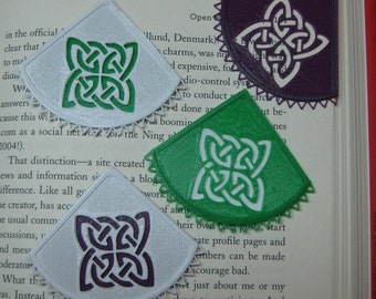 Celtic Knot Corner Bookmarker,