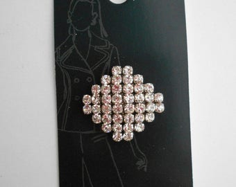 Square Rhinestone - Studded Button, Shank Button, Belle Buttons by Dritz, Large Size