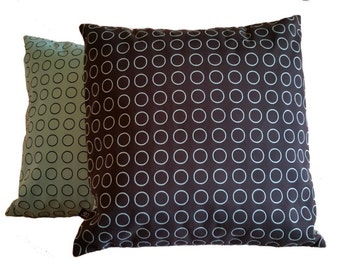 Two (2) Repeat Dot Ring by Hella Jongerius Robin Blue 462150–006 Pillow Covers (B4)