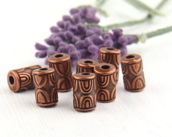 Mini Tubular Acrylic Beads, 8 pieces // BD-053
