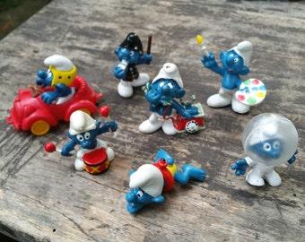 Smurfs figurines 1970s 80s Peyo Schleich