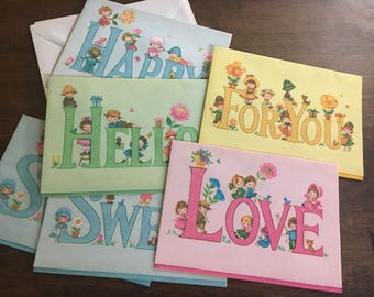 Cute vintage Lovables greeting cards!