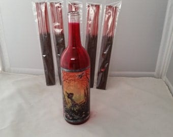 Glass bottle incense holder (How Tales are Told)  w/ 100 incense