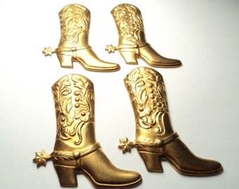 4 - Brass Western Boot  findings - m303