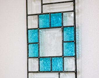 Stained Glass Panel, Bevels & Blue