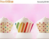 BLACK FRIDAY SALE Cupcake Wrappers to Print Rainbow Cupcake Liners Digital Download easter printables 00