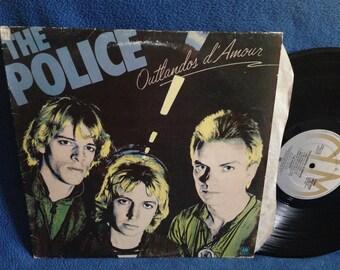 "Vintage, The Police - ""Outlandos d' Amour"" Vinyl LP Record Album, Original 1978 UK Import Press, Sting, So Lonely, Roxanne, Stewart Copeland"