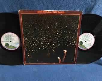 "RARE, Vintage, Bob Dylan with The Band - ""Before The Flood"" Live Vinyl 2 LP Set, Record Album, Original 1974 Press, Folk Rock Country"