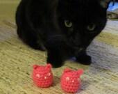 Crochet Pink Pussyhat Catnip Toys/ Cat Ear Hat Catnip Toy / Pussyhat Project Kitty Cat Pet Toy / Organic Catnip filled Pink Pussyhat Toys
