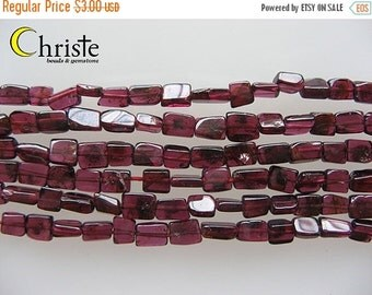 55% OFF Red garnet square beads 4 x 5-6mm 6inch strand