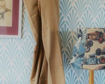 "34. Vintage sligtly flared Tergal pants beige (W39-L101cm / W15.4-L39.8"")"