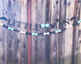 Little Man Banner & Garland set