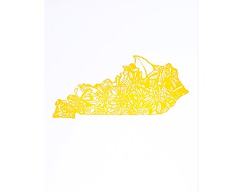 Letterpress Kentucky Goldenrod