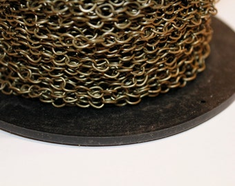 15ft Antique brass plated Cable Chain 4x5mm-unsoldered