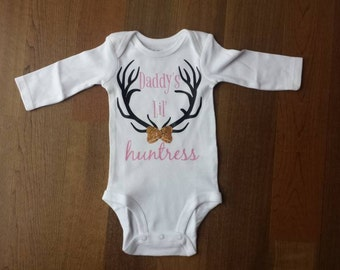 Daddy's little huntress onesie