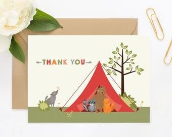 Camping Animals Thank You Car Set
