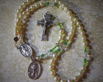Celtic Girl First Communion Irish Saints Traditional Five Decade Rosary
