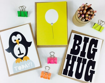 Any 3 cards, your SELECTION of ANY 3 CARDS from halfpinthome, greeting card selection, card multipack, card special offer, uk seller