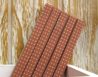 Polka Dot Series Folded Cotton Bias in Orange - 3 Yards 95660