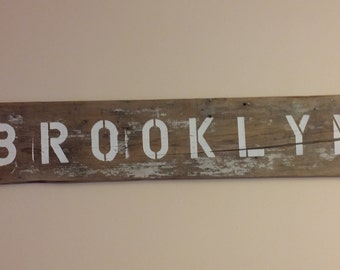 Vintage Brooklyn Sign