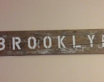 Vintage Brooklyn Sign