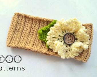 Crochet headband pattern, crochet earwarmer pattern, crochet headwrap, Adele warmer, pattern no. 54