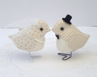 Bride and Groom Wedding Birds