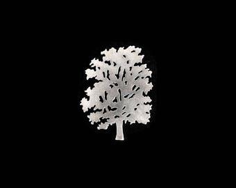 Tree silhouette brooch