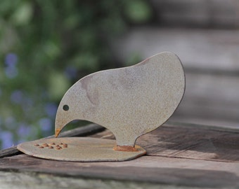 A Metal Chicken Garden Ornament Called Penny