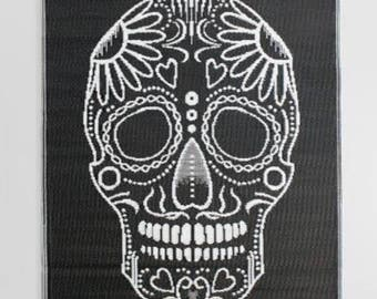 Reversable 4x6 indoor/outdoor Day of the Dead Rio Floor Mat