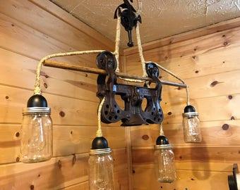 Hay Trolley Mason Jar Lighting Lamp Edison