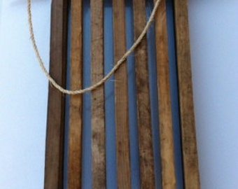Sleigh, Rustic, made with Tobacco Sticks