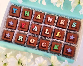 Thanks Ya'll Rock - Thank You Chocolate Gift - Unique Chocolate Thank You Gift