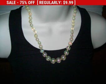 SALE vintage bead necklace, estate jewelry, beads, retro