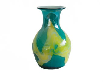 Hand-Blown Glass Vase