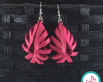 Lipstick Pink Boho Chick Earrings