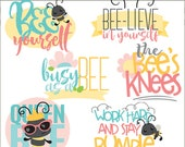 Bee Clipart -Personal and Limited Commercial Use- Cute Bug Clipart, Bee Sayings Clipart