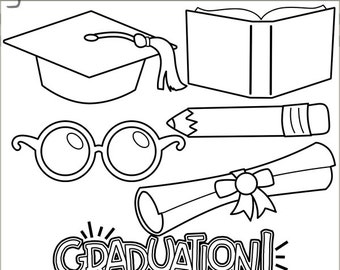 Graduation Clipart -Personal and Limited Commercial Use- School and Graduate Clipart