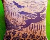 Hare and Pheasants- A Lynda Taylor Cushion.