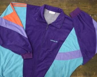 Adidas 1990s Velvet Track Suit Jacket