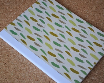 Southwestern Feathers Notebook, Full Sized, Altered Composition Notebook