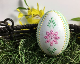 Easter Egg, Real Duck Egg Pysanky, Easter Gift, Polish Pysanka