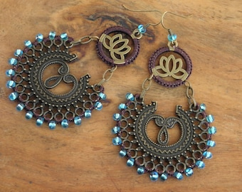 Earrings - Bahia Del Sol - INDI 7 - Gypset - Boho - Gypsy - Hippy - Bohemian - Ethnic - Zen - Ibiza - latino - arabesques - lotus flower