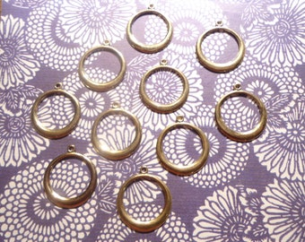 10 Goldplated 26mm Round Hoops