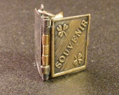 Antique french  Religious  Book  Locket Souvenir Britain   Collectible old Pendant Charm Ms1