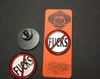 No F*cks Enamel Pin