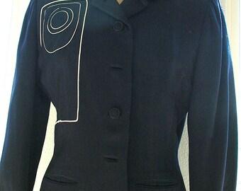 Lilli Ann Splendor!  Mid-Century Jacket with Stunning Detail