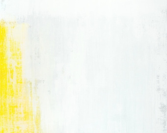 Minuscule, 2017 - Original Acrylic Artwork Modern Abstract Painting Wall Decorative Free Shipping Grey Yellow White 24x36 Canvas
